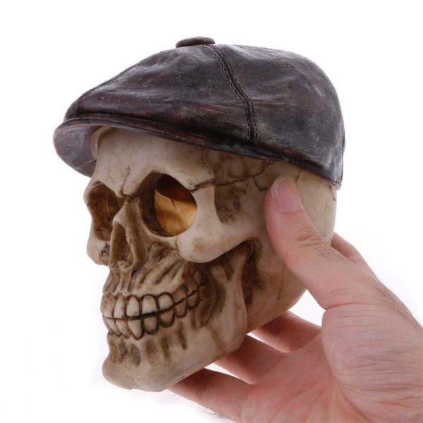 Crâne avec béret aquarium pour poissons