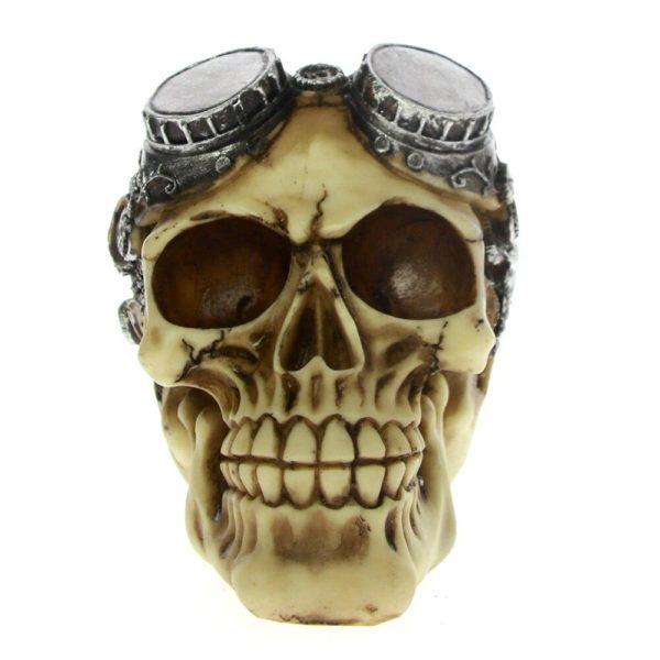 crâne aviateur gothique aquarium décoration en résine