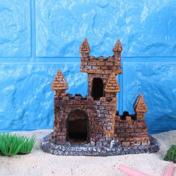 château en briques aquarium décoration aquarium