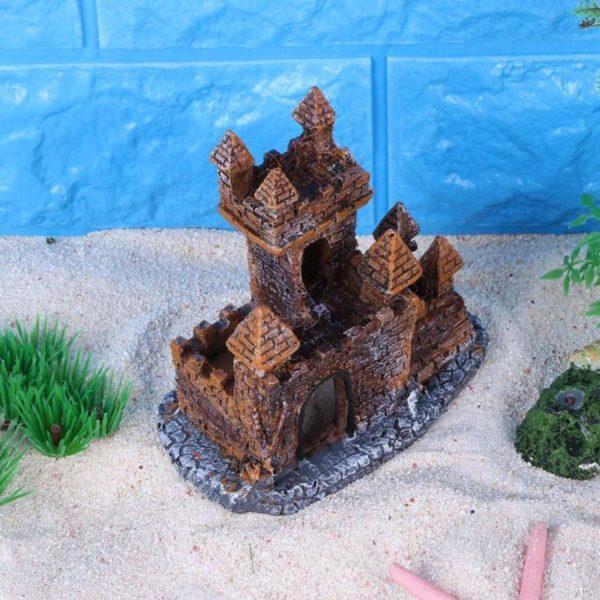 décor aquarium château en briques