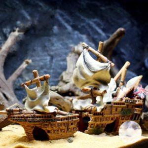 épave de bateau anglais aquarium décoration