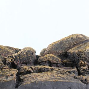 fond aquarium en relief gros rochers jaunes