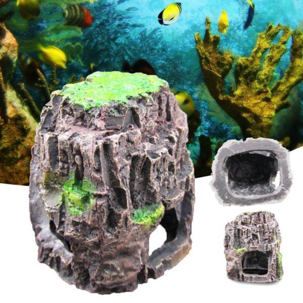 Grotte aquarium pour poissons