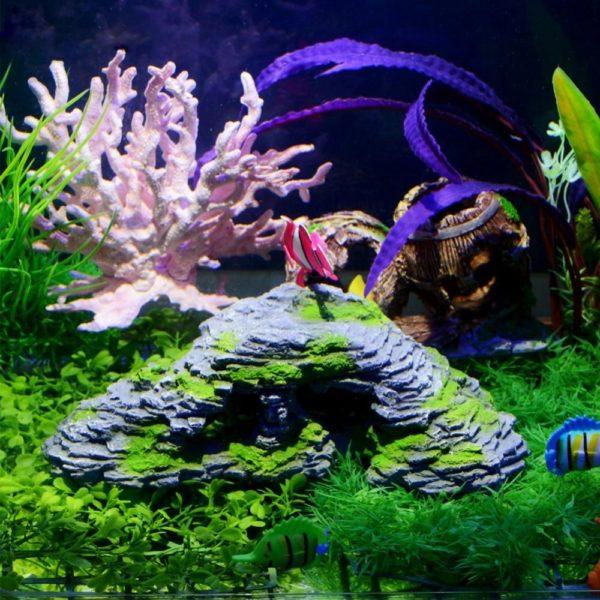Grotte imite la pierre naturelle aquarium