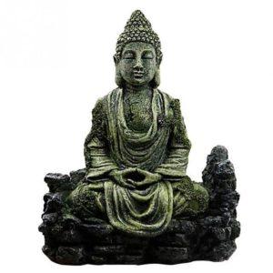 statue bouddha assis pour aquarium