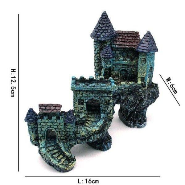 Château longue muraille aquarium pas cher