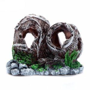 tonneaux sur fond de pierre aquarium