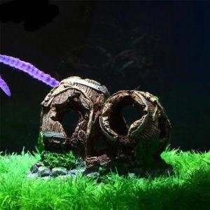tonneaux sur fond de pierre dans aquarium