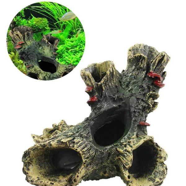 Tronc d'arbre réaliste aquarium