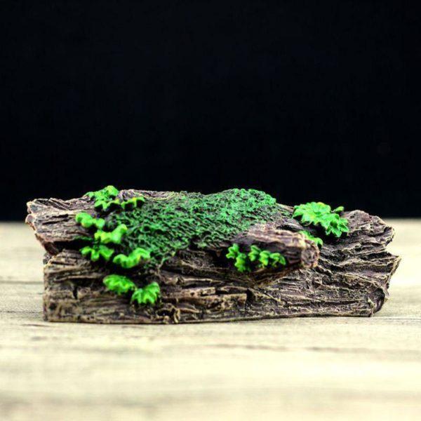 tronc d'arbre avec feuilles décoration