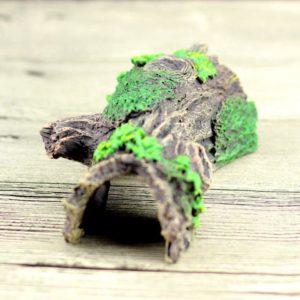 tronc d'arbre avec feuilles pour aquariophile