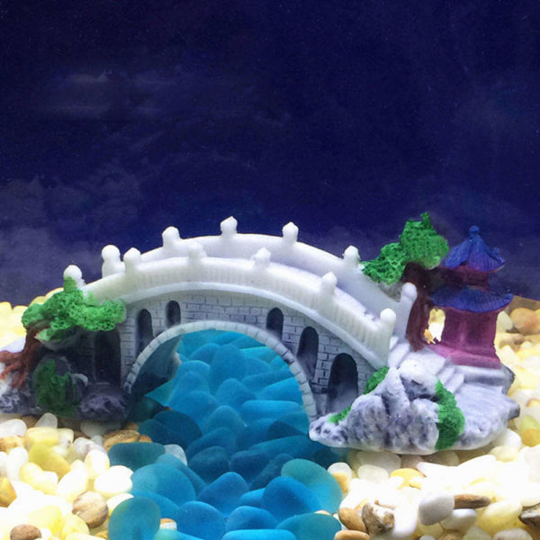 Pont Blanc décoration aquarium