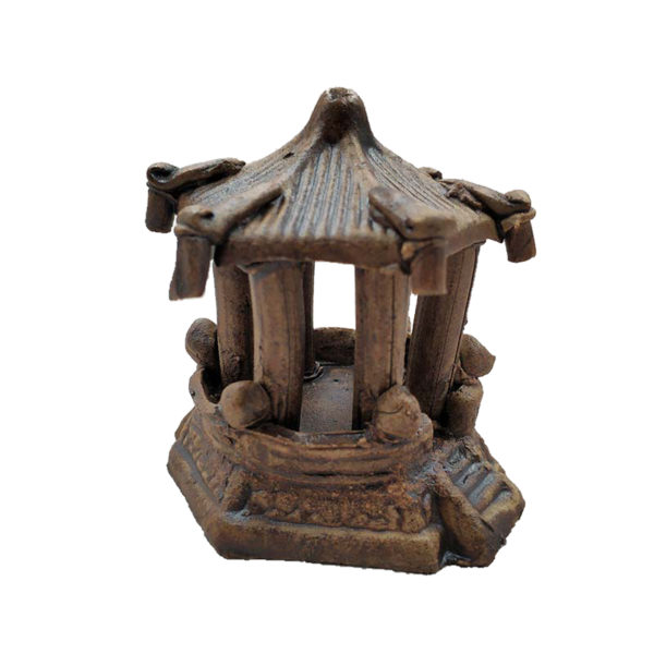 Temple Imitation Bois decoration aquarium