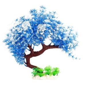 bonsaï aquarium décoration bleu clair