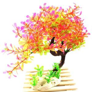 bonsaï aquarium décoration orange