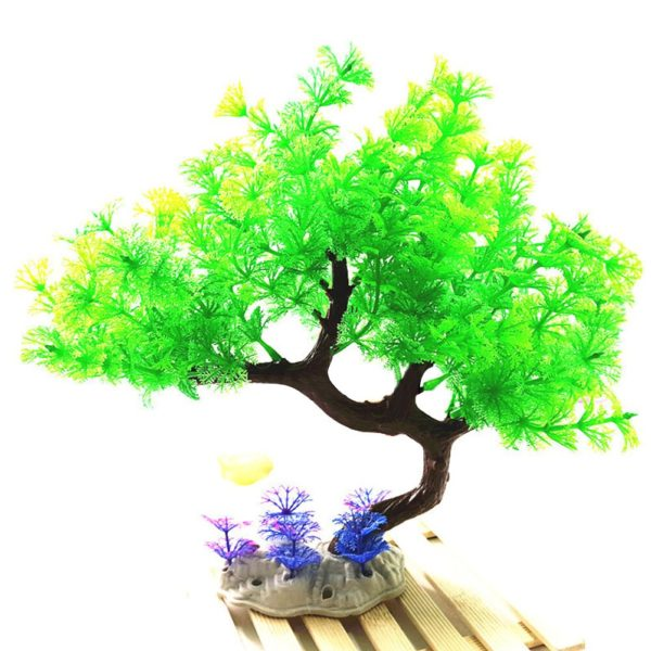 bonsaï aquarium decoration vert