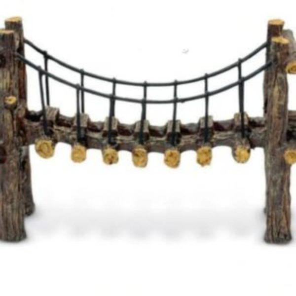 Pont en faux bois decoration aquarium