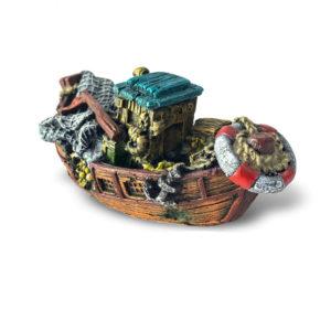bateau de pêche vintage pour aquarium