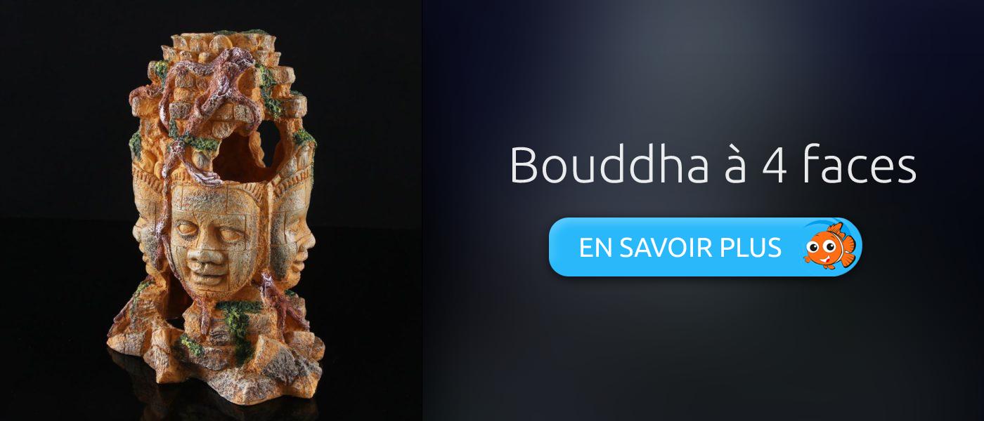 décoration aquarium statue bouddha à 4 faces