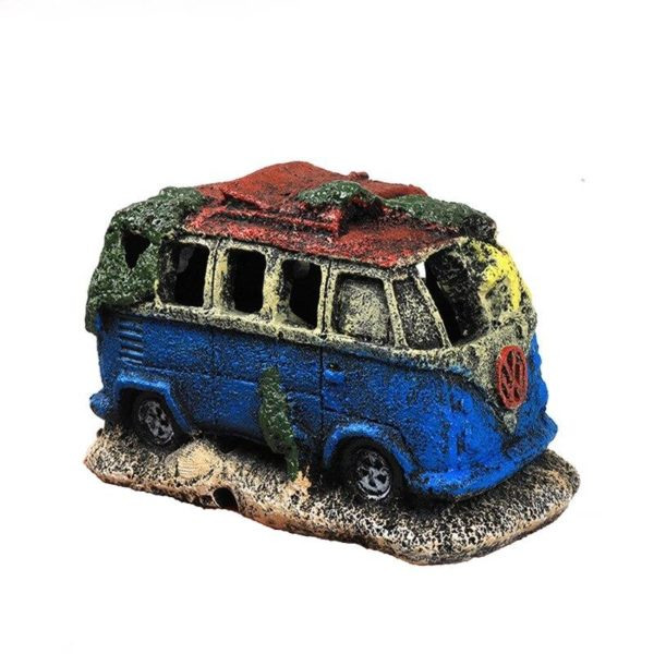 Épave de Camping-Car decoration aquarium