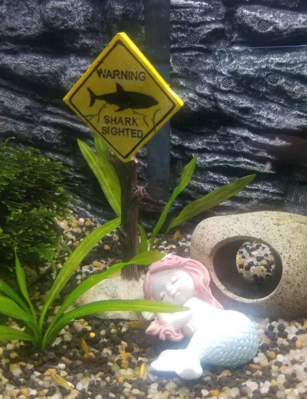 Panneau Danger pour Aquarium décoration aquarium