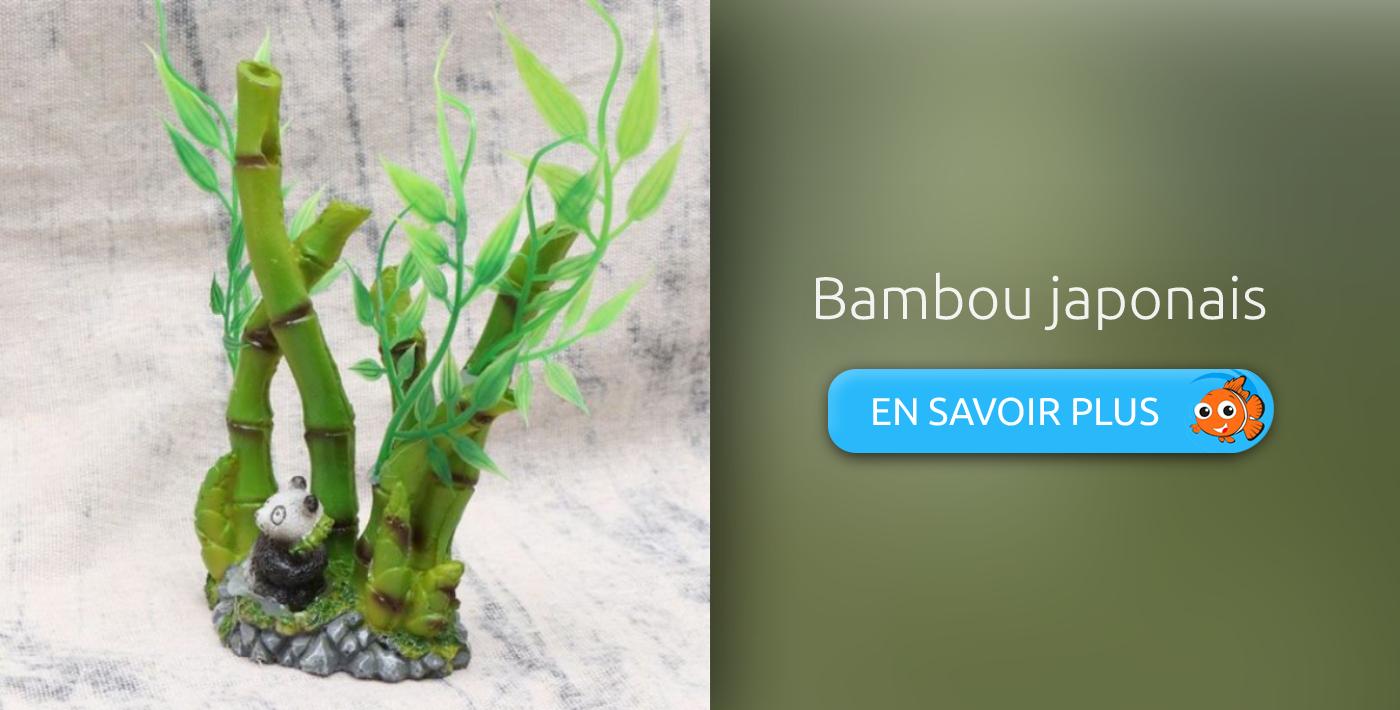 décoration aquarium japonais bambou