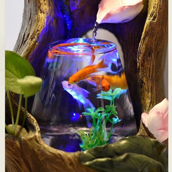 Aquarium design pour salon fontaine