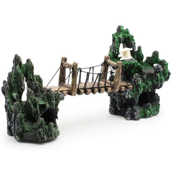 Pont sur Montagne décoration aquarium
