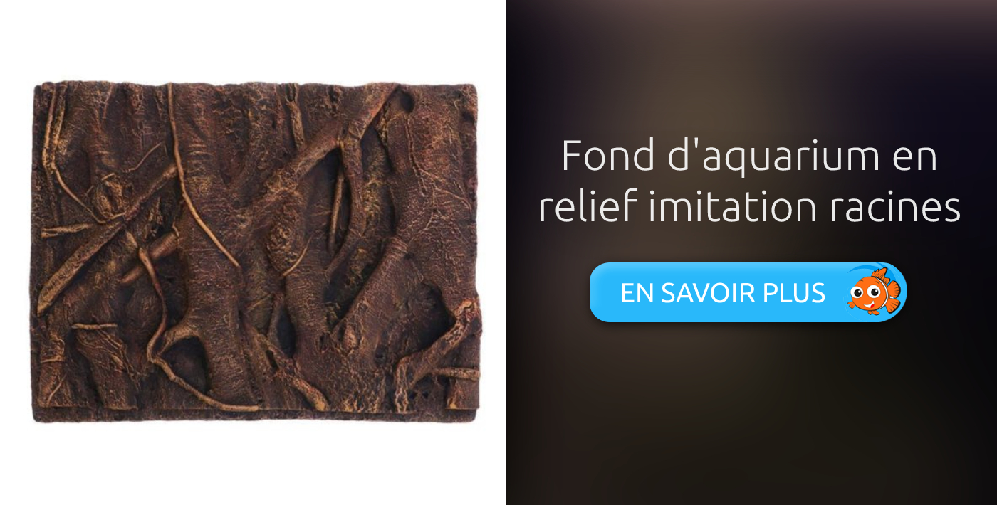 Fond d'aquarium en relief imitation racines