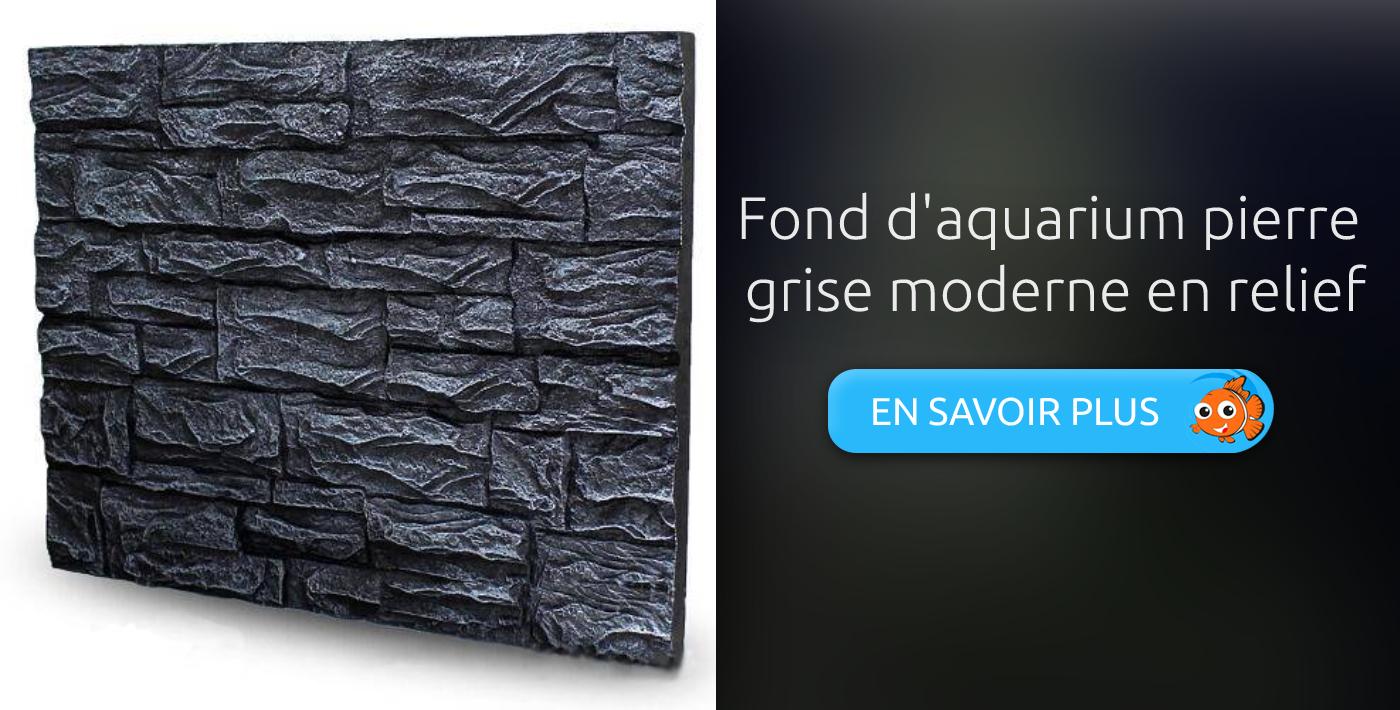 Fond d'aquarium pierre grise moderne en relief