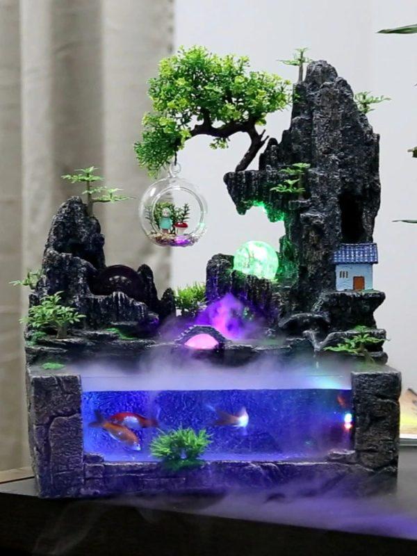 Aquarium Design Montagne Zen grand