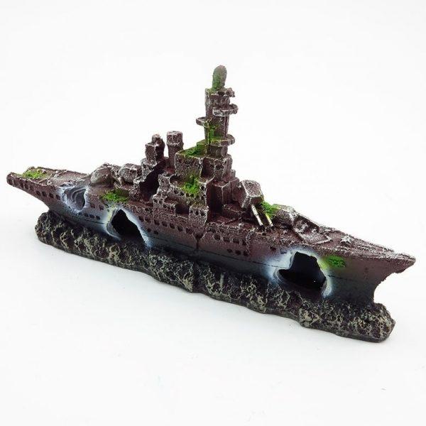 bateau aquarium rouillé déco