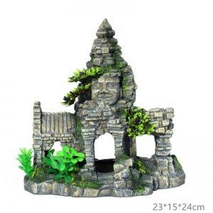 decoration aquarium temple bouddha 2 1