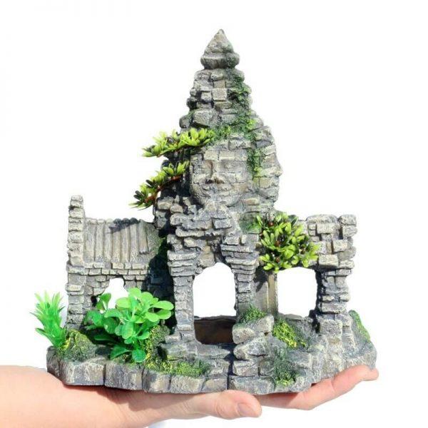 décoration aquarium temple bouddha