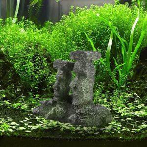 moai aquarium decor statue